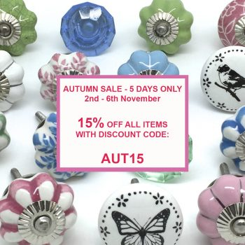 Autumn Sale - 5 Days Only 15% Off All Items!