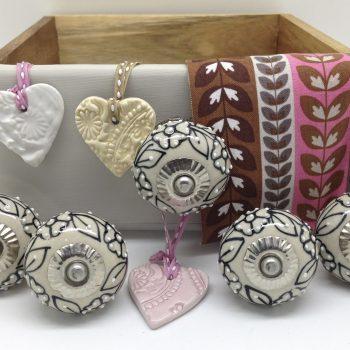 Oatmeal Garland & Mary Clarke Ceramic Hearts