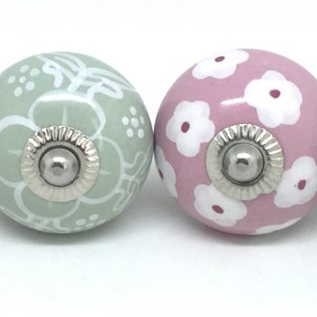 Six Sage Green & Pink