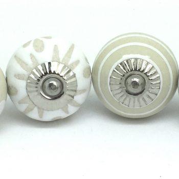 Set of 6 Classic Cream & White
