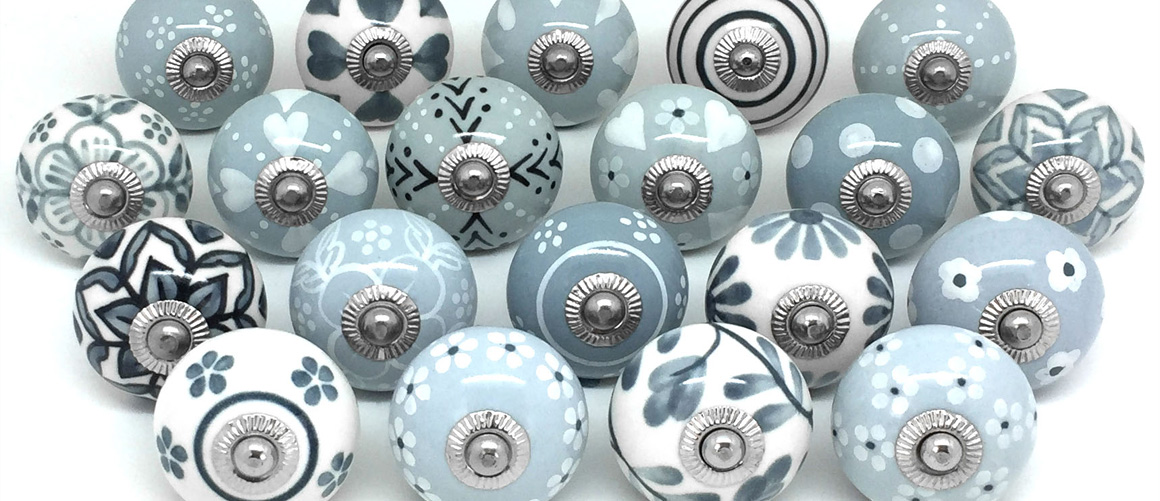 Home These Please, Hand Painted Porcelain Cabinet Knobs