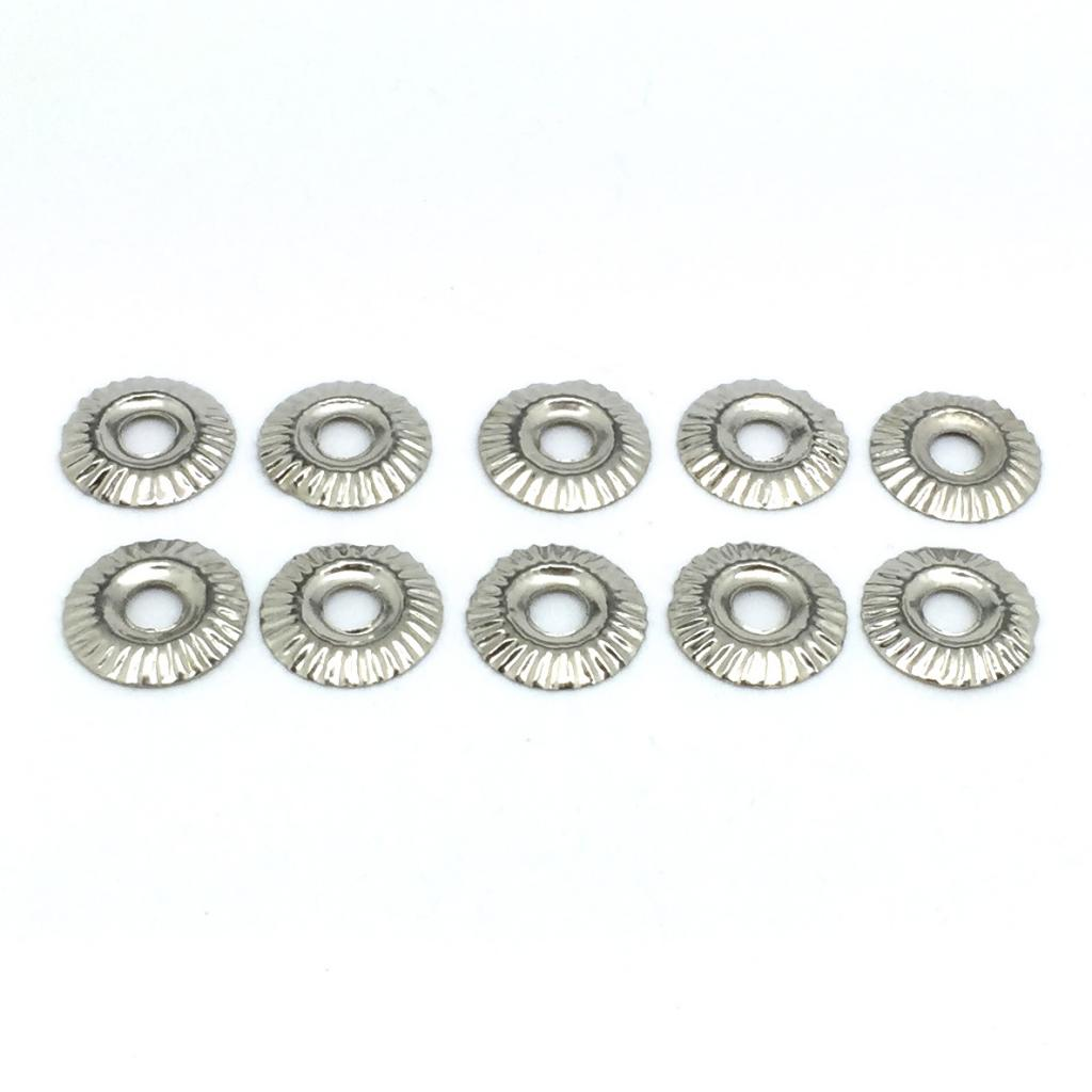 10 x Silver Coloured 1.5cm diameter Decorative Flashings