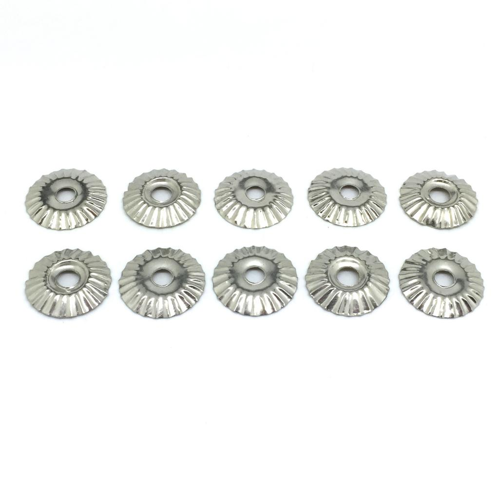 10 x Silver Coloured 2.0cm diameter Decorative Flashings