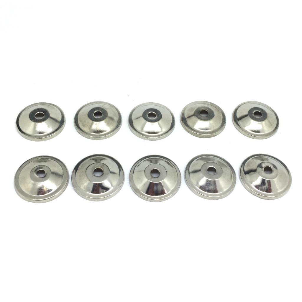 10 x 3cm Silver Coloured Metal Backplates