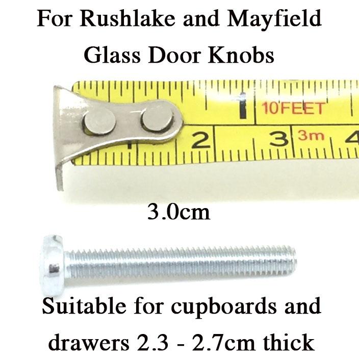 3.0cm Bolt for Glass Knobs