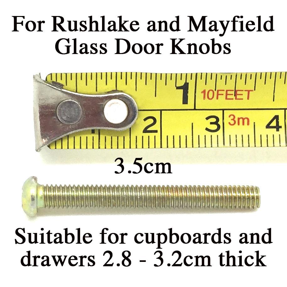 3.5cm Bolt for Glass Knobs