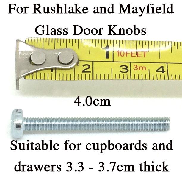 4.0cm Bolt for Glass Knobs