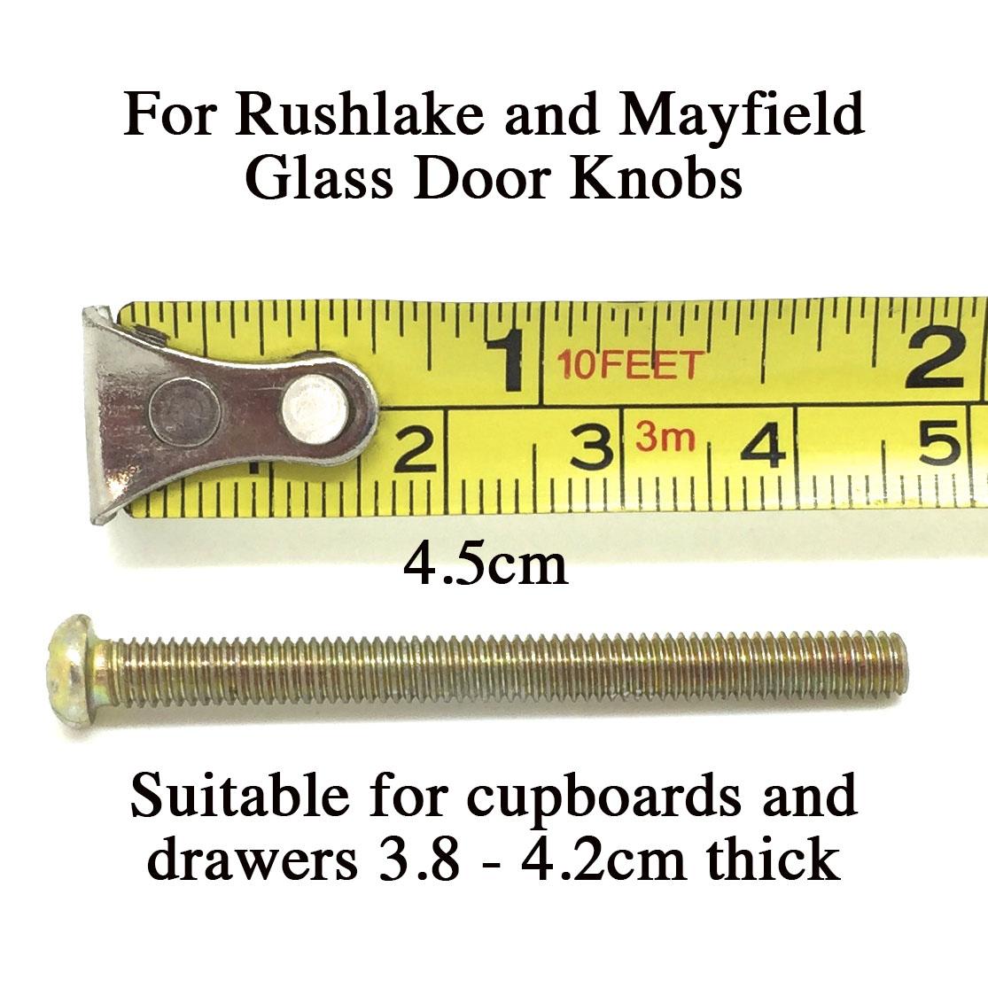 4.5cm Bolt for Glass Knobs