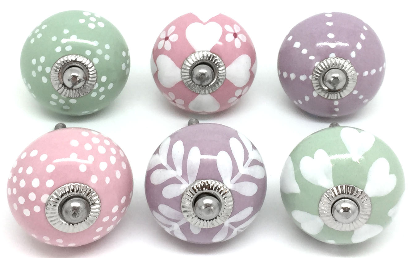 6 Mixed Lilac Pink & Sage Green S6-15