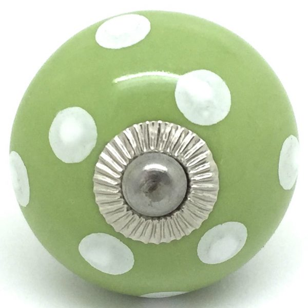 CK015 Willow Green Polka Dot