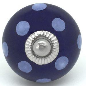 CK016 Navy Blue Polka Dot
