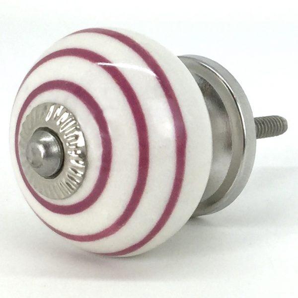 CK021 White Cherry Pink Stripes