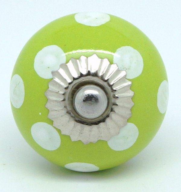 CK037 Lime Green Polka Dot
