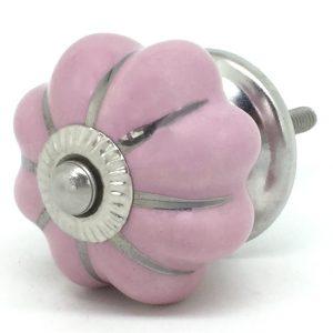 CK048 Petal Pink Flower Silver Lines