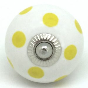 CK067 White with Sunny Yellow Polka Dot
