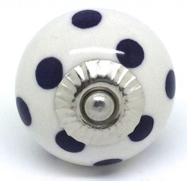 CK071 White with Deepest Purple Polka Dots