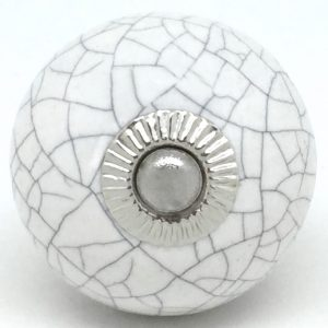 CK095 Chalk White Round Crackle