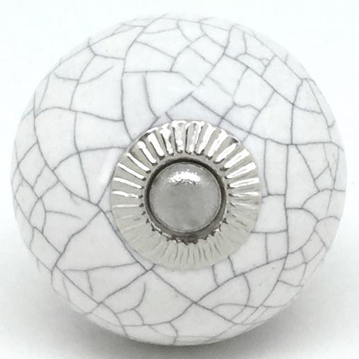 CK095 Chalk White Round Crackle