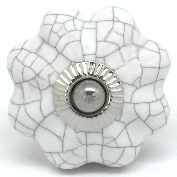 CK099 Chalk White Crackle Flower