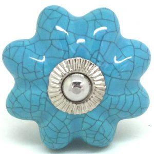 CK101 Sea Blue Flower Crackle