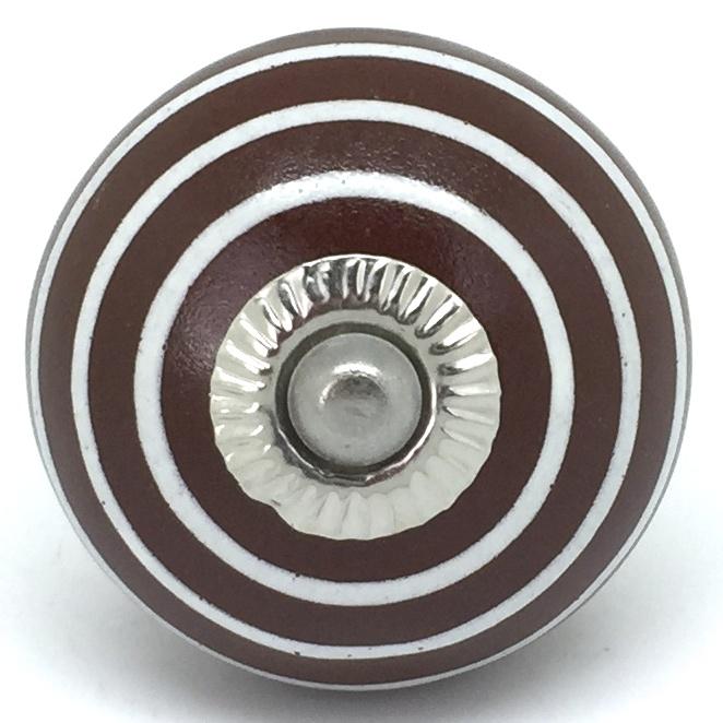 CK131 Conker Brown White Stripes