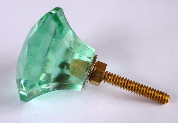 CK144 Jewel Cut Lilypond Green 35mm Glass Slight Seconds