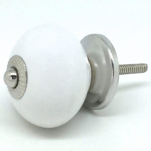 CK160 Jasmine White Round Silver Middle