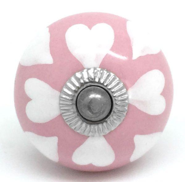 CK228 Petal Pink White Hearts