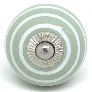 CK233 Sage Green White Stripes