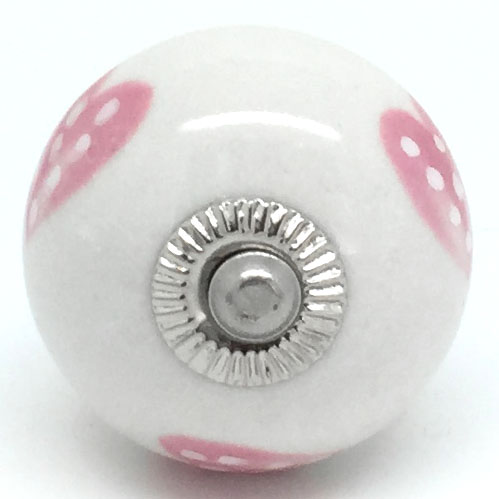 CK244R Petal Pink Dotty Heart 2nd Quality