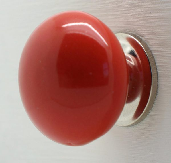 CK265 Red Larger Round (4.5cm diam) Slight Seconds