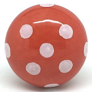 CK279 Orange Zest Polka Dot (4.5cm diam) SLIGHT SECONDS