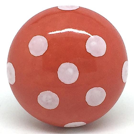CK279 Orange Zest Polka Dot (4.5cm diam) SLIGHT SECONDS