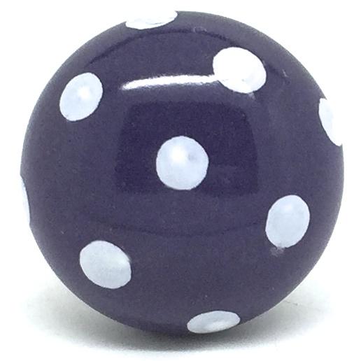 CK280 Purple Dot (4.5cm diam) knob - SLIGHT SECONDS