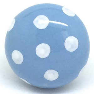 CK281 Harbour Blue Dot (4.5cm diam) SLIGHT SECONDS