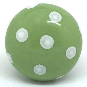 CK283 Bramley Green Polka Dot (4.5cm diam) Door Knob