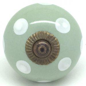 CK301 Sage Green Polka Dot Gold