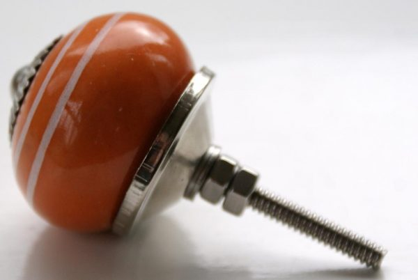 CK312 Saffron Orange White Stripes