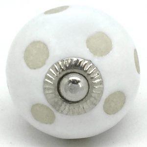 CK377 White Stencil Polka Dot