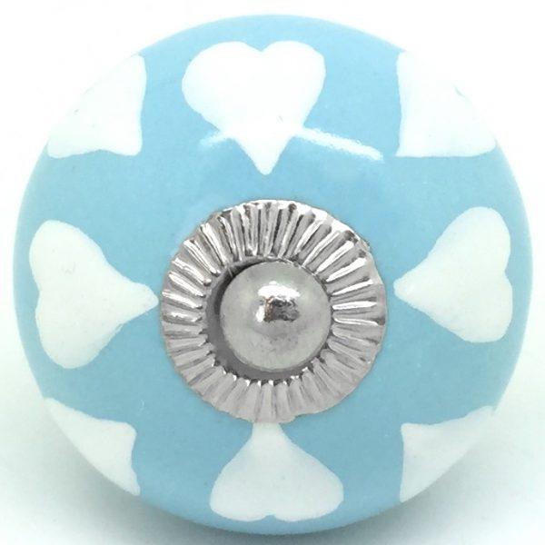 CK455 Marina Blue with White Hearts
