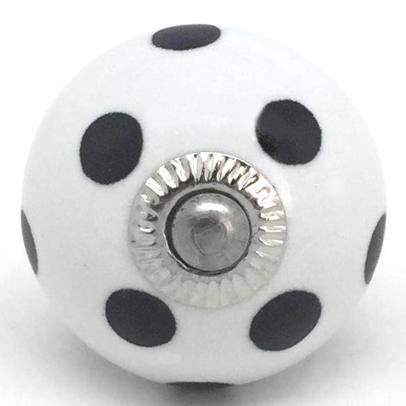 CK456 White with Black Polka Dot