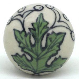 CK474 Biscay Thistle Ceramic Knob