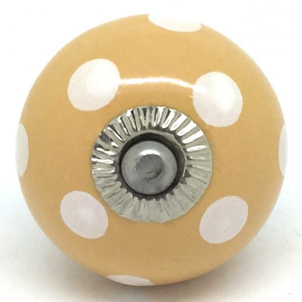 CK488 Dark Apricot with White Polka Dots