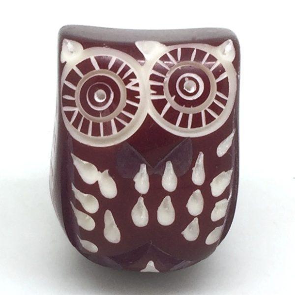 CK512 Cranberry Resin Owl