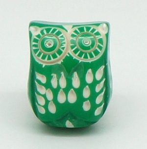 CK513 Green Resin Owl