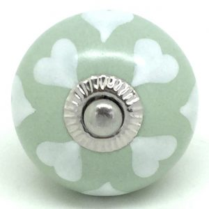 CK548  Sage Green with White Hearts