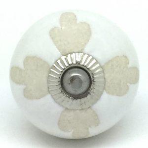 CK563 White Stencil Pansy