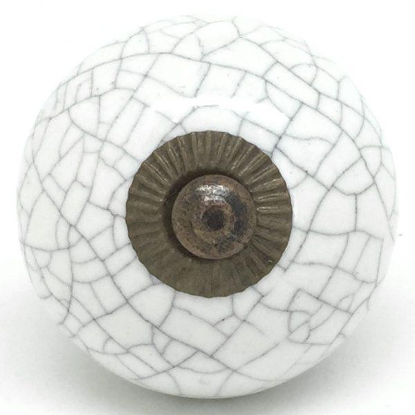 CK568 Chalk White Crackle Round Gold