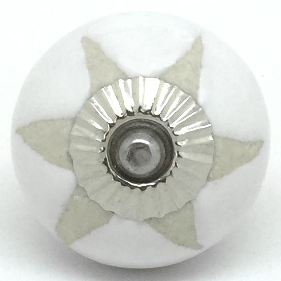 CK572 White Stencil Star Silver