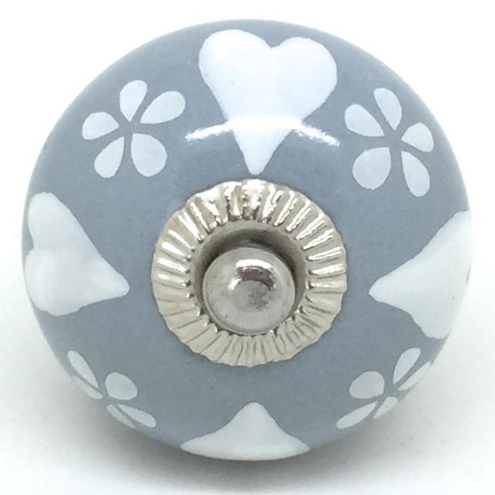 CK608 Daisy Hearts Grey